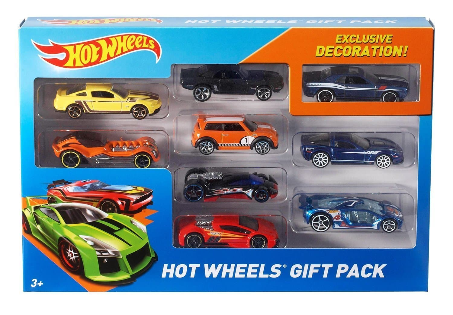 Petit paquet de 9 voitures Hot Wheels