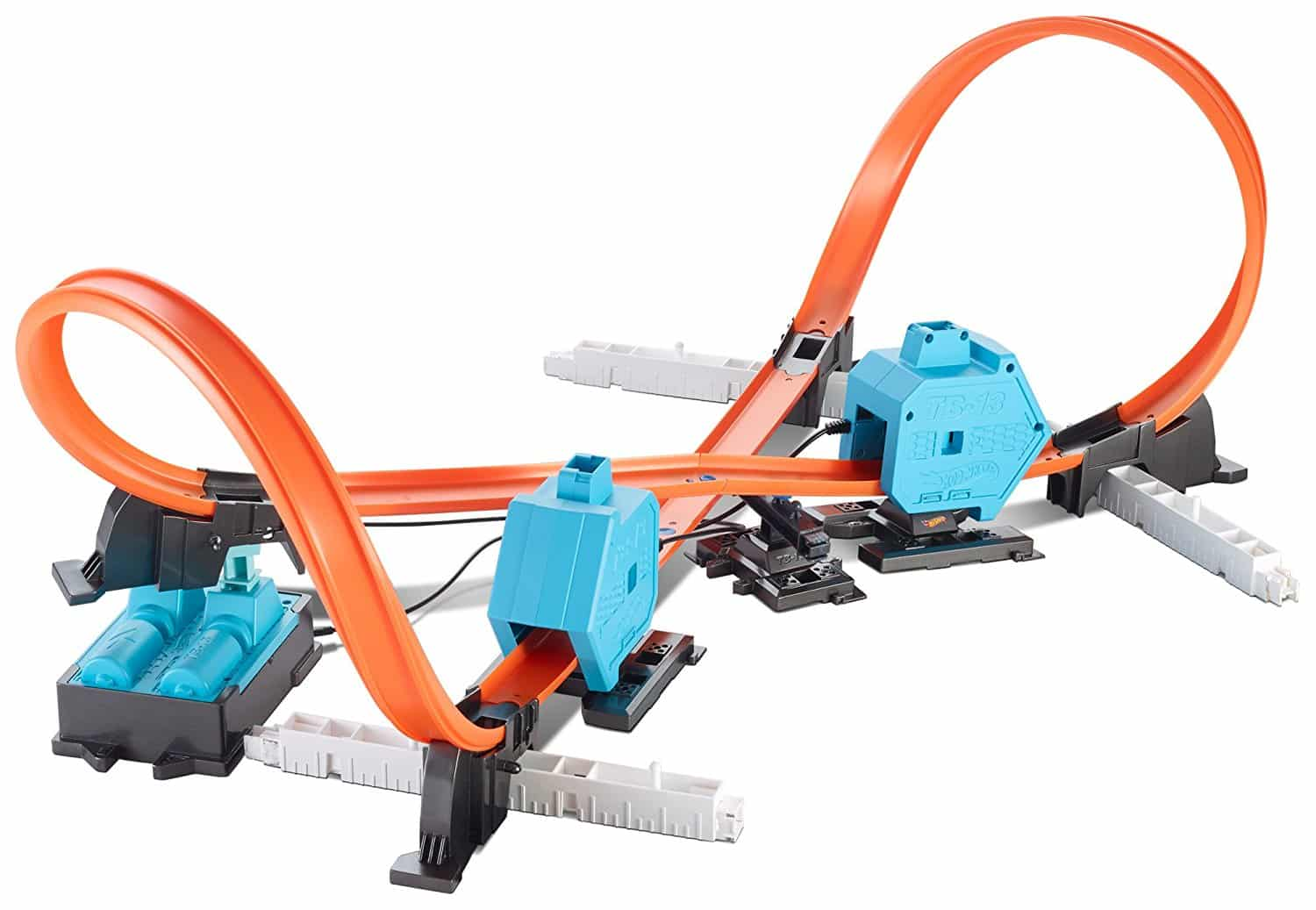 Piste Double Super Lanceur Hot Wheels