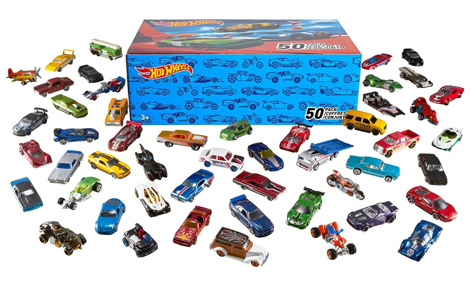 Pack de 50 Voitures Hot Wheels