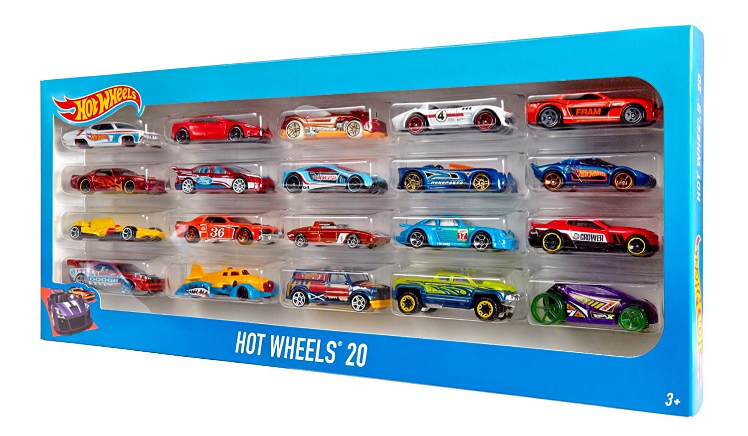 Pack de 20 Voitures Hot Wheels