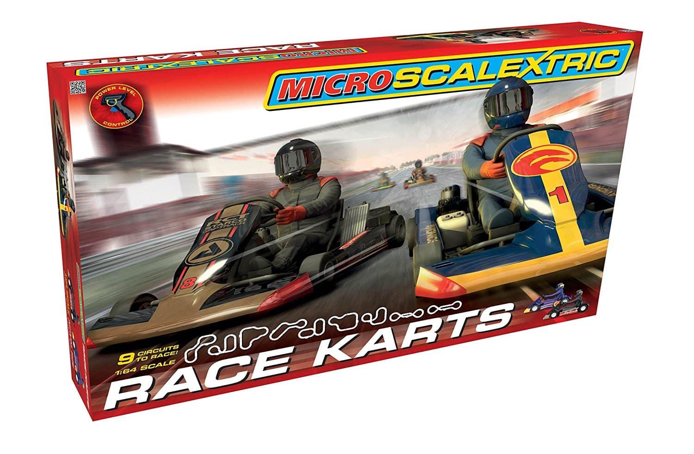 Circuit Micro Scalextric Race Karts à l'échelle 1/64
